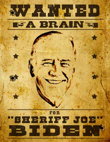 Joe Biden no brain and foot in mouth